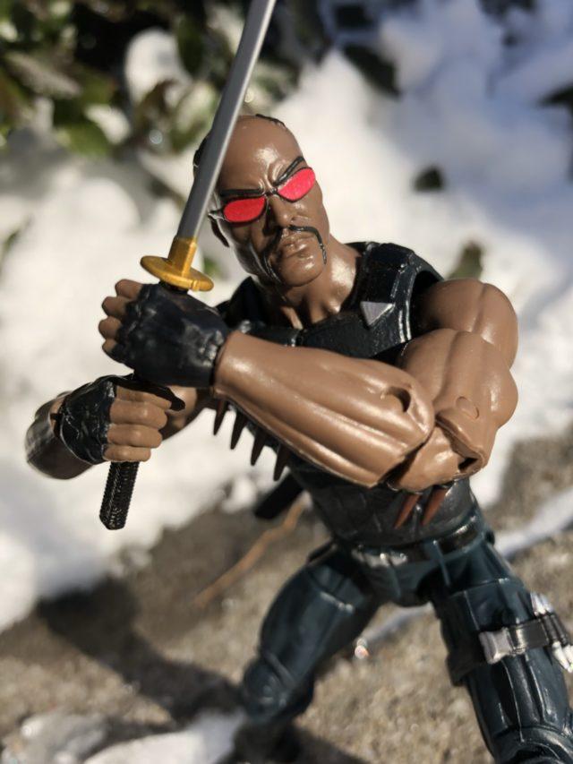 Blade Marvel Legends Netflix Series Figure Wielding Sword
