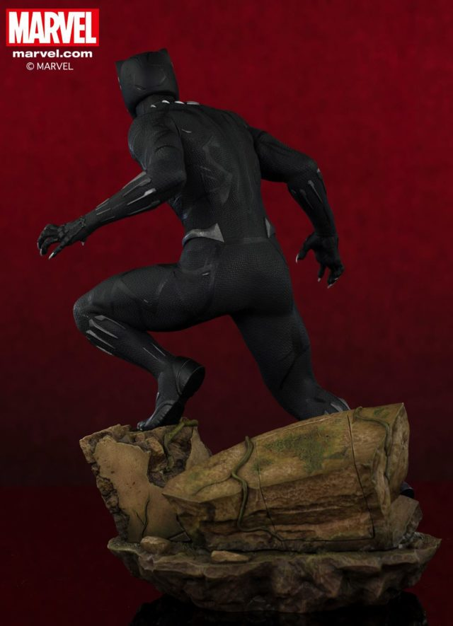 ARTFX Black Panther Statue Back View
