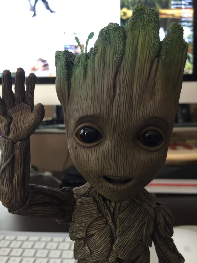 Baby Groot Hot Toys Life Size Figure Waving