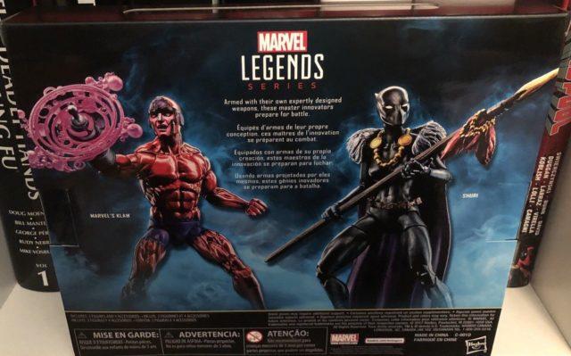 Black Panther Legends Shuri Klaw Two Pack Box Back