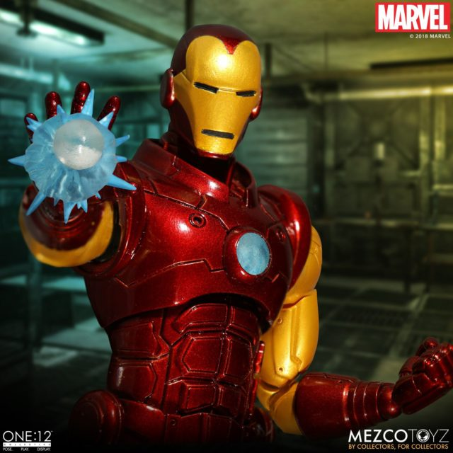 Close-Up of Armor Paint Deco on Iron Man Mezco ONE12 Collective Figure