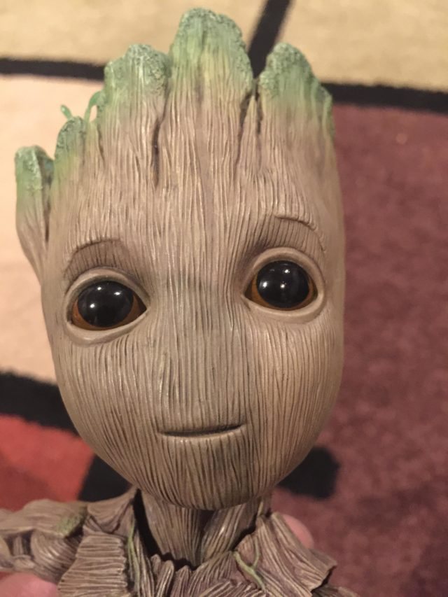 Close-Up of Hot Toys Groot Life Size Head