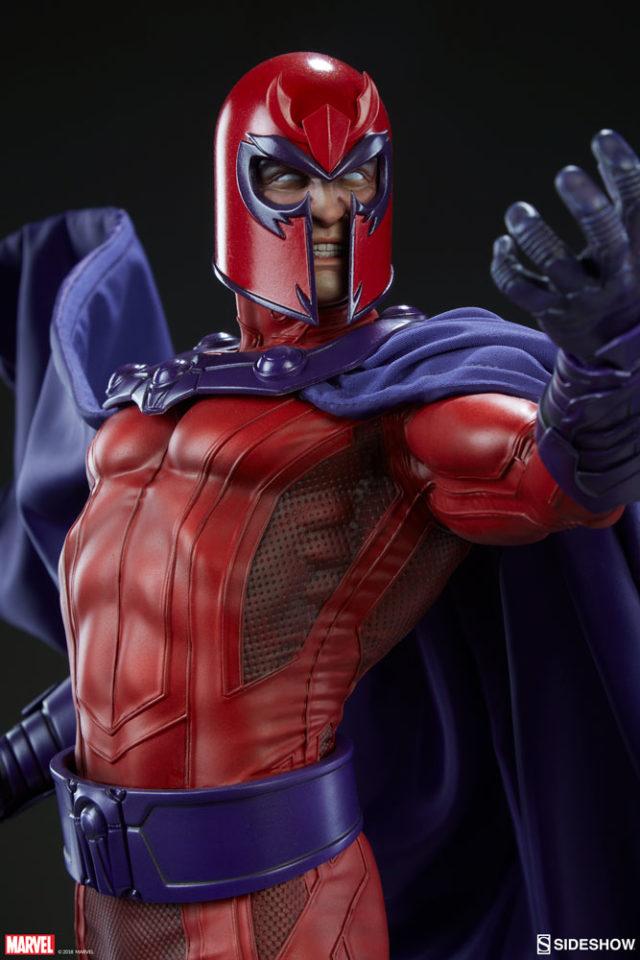 Close-Up of Sideshow Magneto Premium Format Figure Head