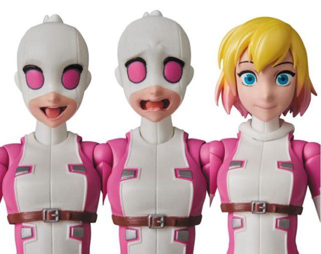 Gwenpool MAFEX Alternate Heads