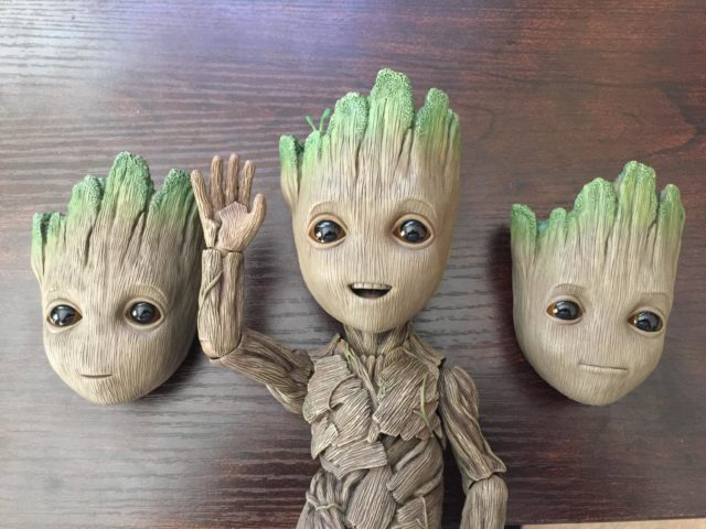 Hot Toys Life Size Groot Faces Alternate Heads