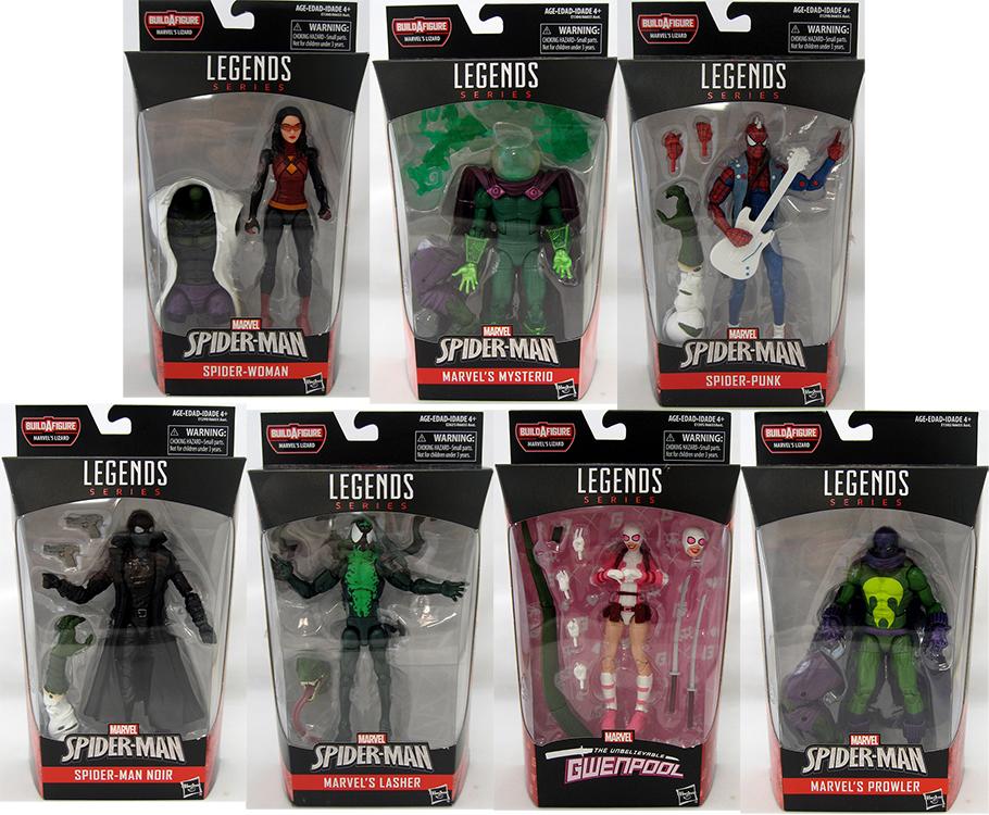"""Marvel Legends 6/"""" Inch Lizard BAF Wave Spider-Man Noir Loose Complete"""