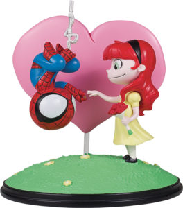 Marvel Animated Spider-Man and Mary Jane Statue Skottie Young