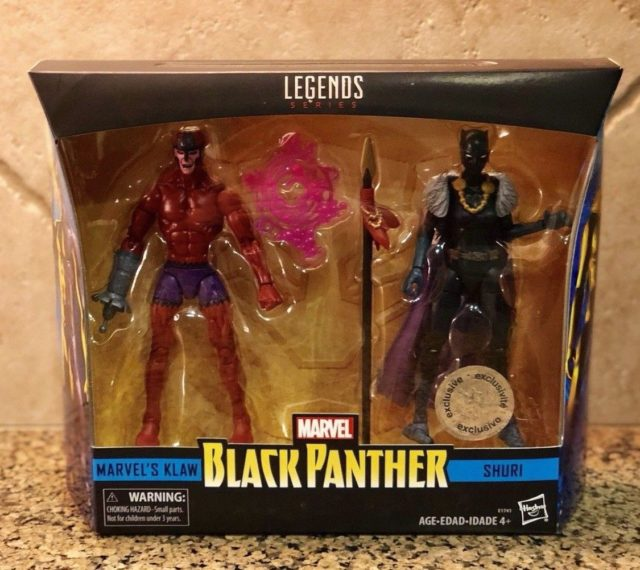 Marvel Legends Black Panther Shuri and Klaw Two Pack Packaged