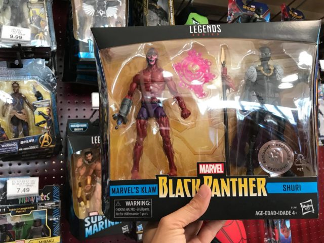 Marvel legends Klaw and Shuri Toys R Us Two Pack Released