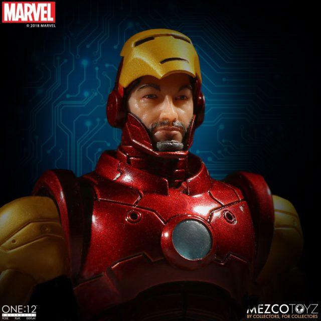 ONE 12 Collective Iron Man Figure Tony Stark Portrait Under Faceplate