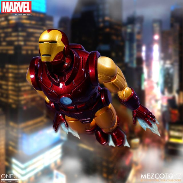 ONE12 Collective Iron Man Figure Flying