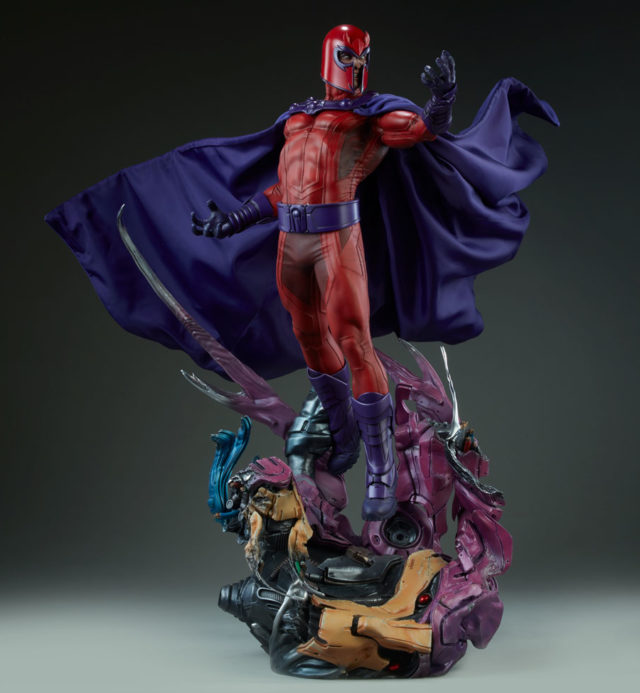 Sideshow Collectibles 2018 Magneto Statue On Sentinel Base