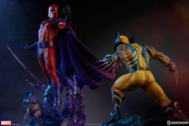 Sideshow Collectibles X-Men Statues Magneto vs Wolverine