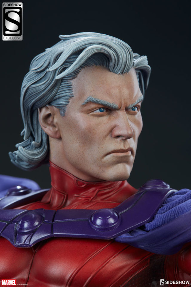 Sideshow Exclusive Magneto Unhelmeted Head