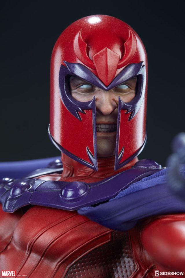 Sideshow Magneto Maquette Head Sculpt with Helmet