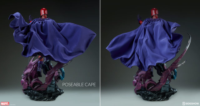 Sideshow Magneto Statue Poseable Soft Goods Cape