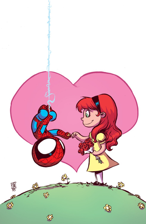 Skottie Young Spider-Man Renew Your Vows Cover Variant