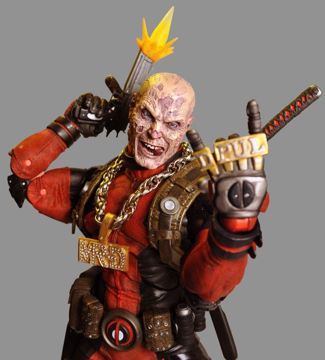 Ultimate Deadpool Figure NECA Unmasked 18 Inch