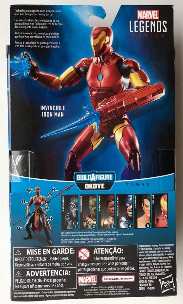 Black Panther Legends Invincible Iron Man Box Back