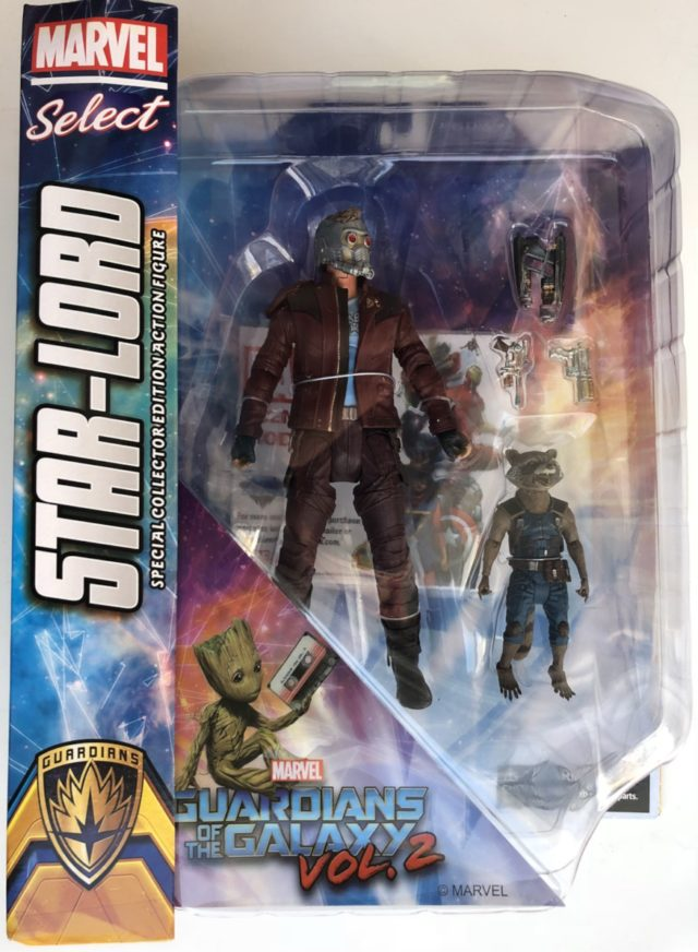 Marvel Select Star-Lord and Rocket Raccoon Movie Figures Packaged