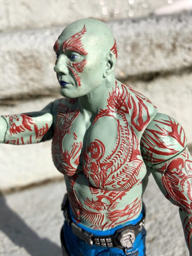 Side View of Drax Select Action Figure