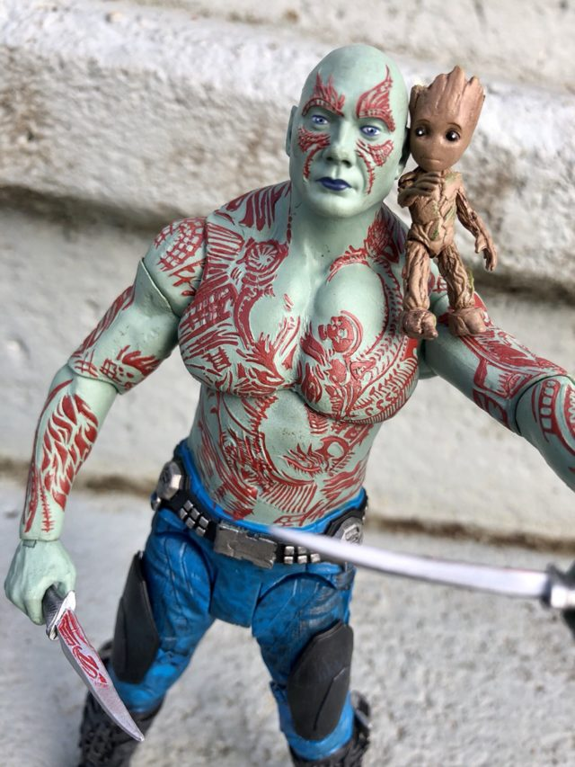 Marvel Select Guardians of the Galaxy Vol. 2 Drax Review Baby Groot