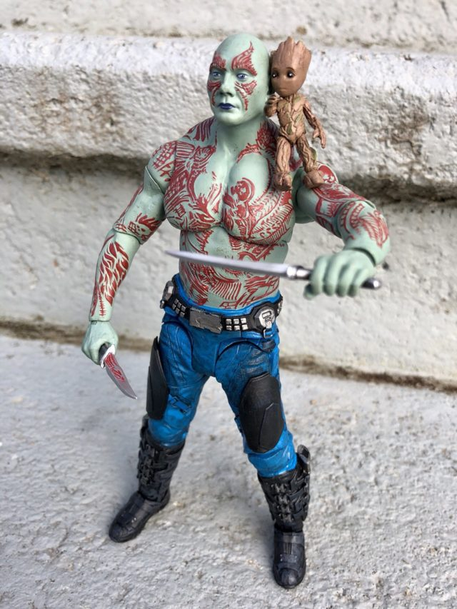 Baby Groot Marvel Select on Drax Action Figure