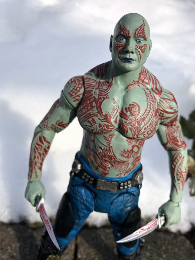 Close-Up of Marvel Select Drax Lips