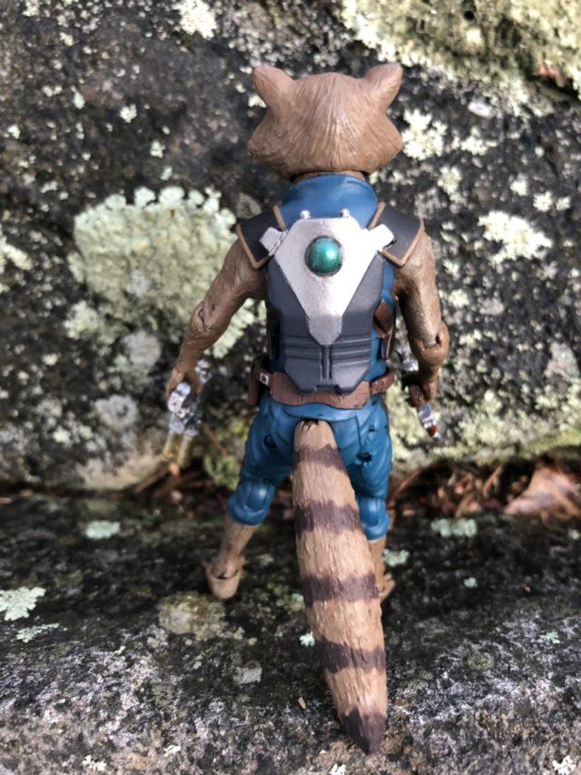 Back of Diamond Select Toys Rocket Raccon Figure