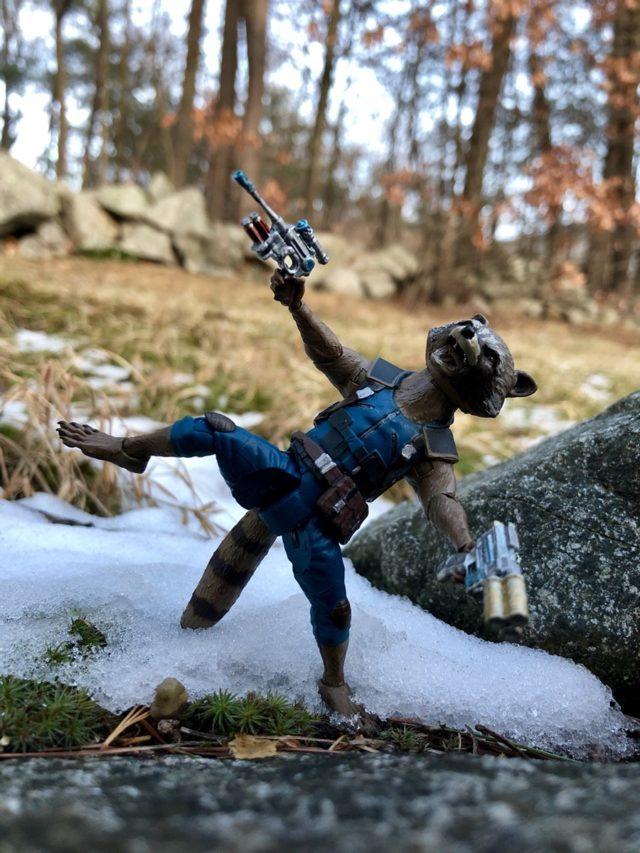 Articulation on Marvel Select Rocket Raccoon Figure GOTG Vol. 2