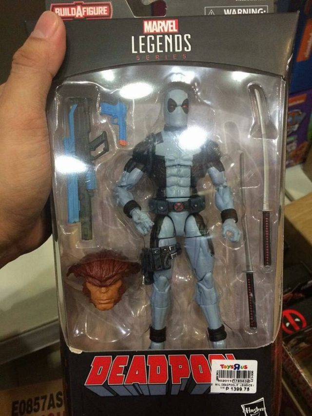Marvel Legends 2018 X-Force Deadpool Figure Packaged with Sasquatch Head