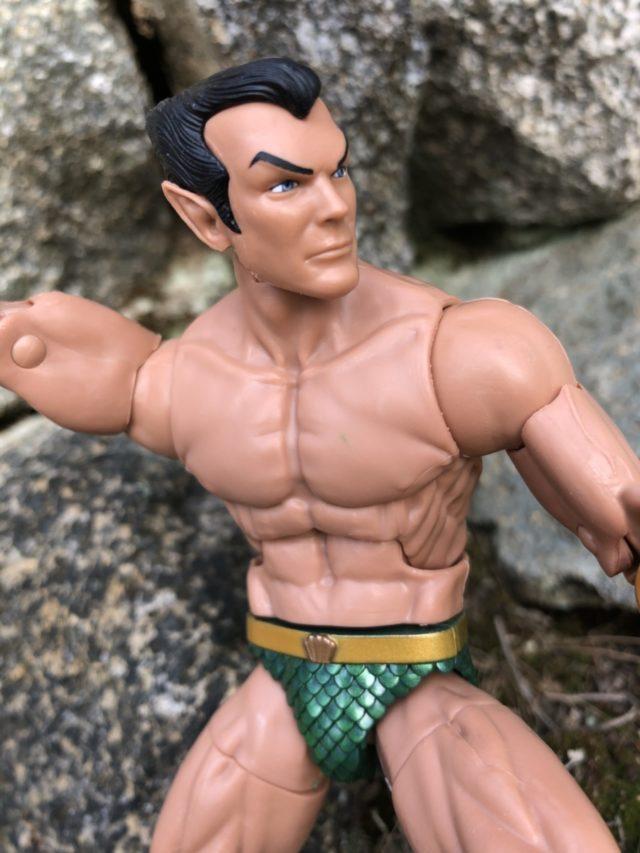Close-Up of Namor Marvel Legends 2018 Action Figure