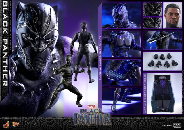 2018 Hot Toys Black Panther 12 Inch Figure and Accessories