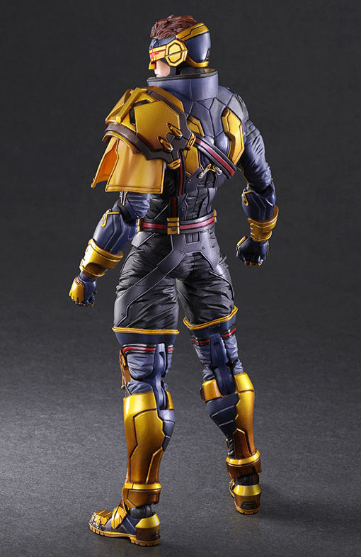 Back of Marvel Play Arts Kai Cyclops Figure