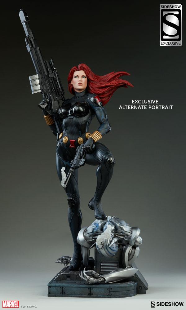 Exclusive Black Widow Premium Format Figure Long Haired Portrait Head