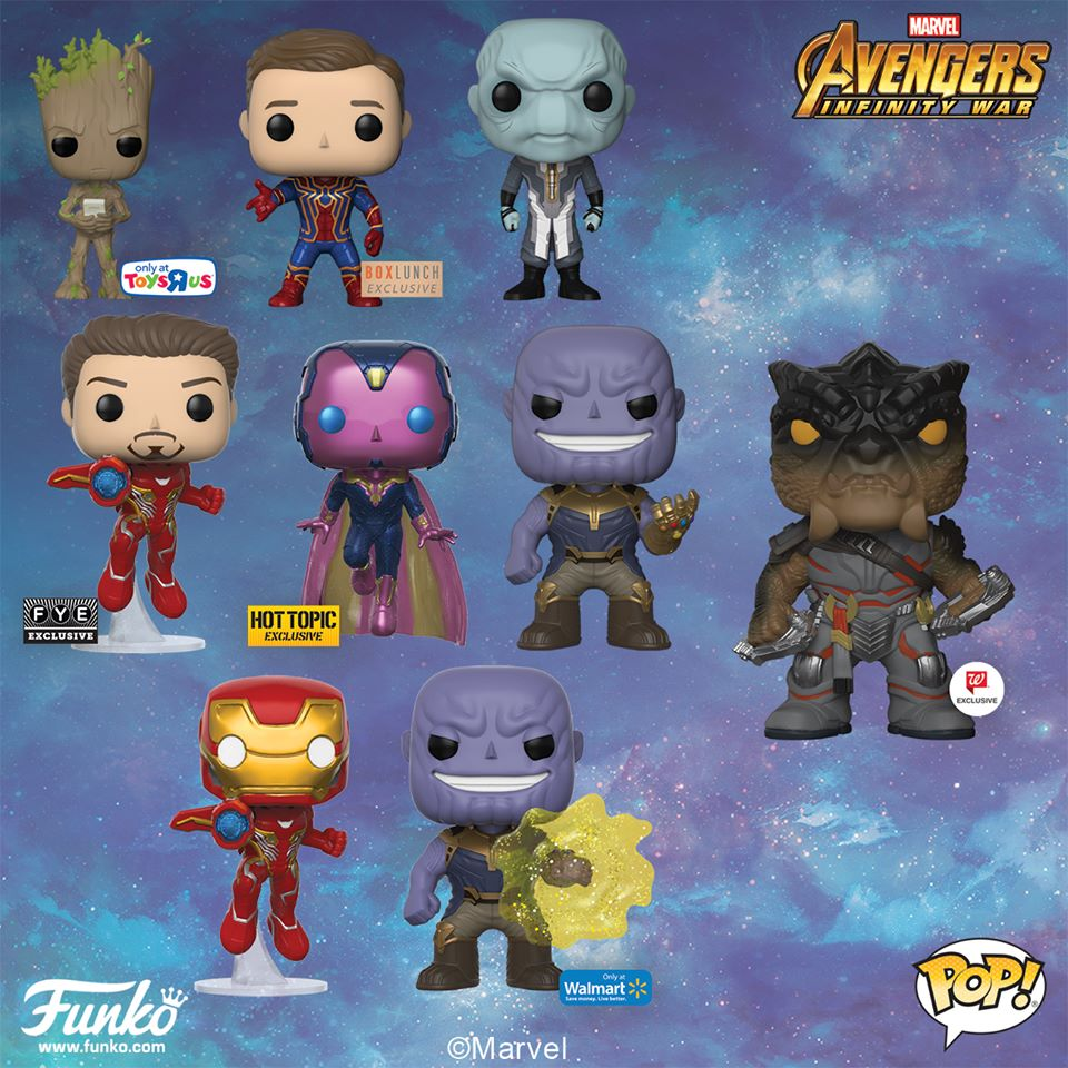 Funko Avengers Infinity War Pop Vinyls Up For Order Hulkbuster Marvel Toy News