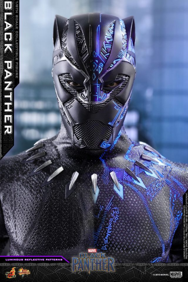 Hot Toys Black Panther Movie Figure Head with Reflective Lighting Effects