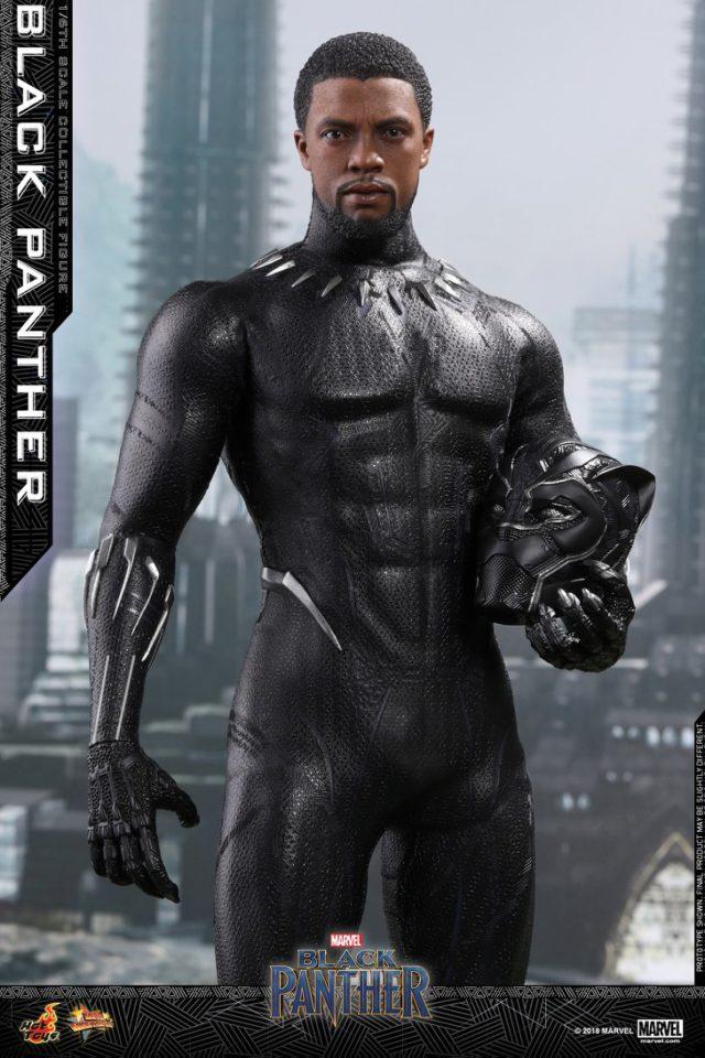 Hot Toys Unmasked Black Panther Chadwick Boseman Portrait