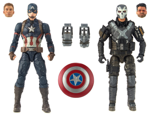 Marvel Legends 10 10 Years of Marvel Studios Captain America and Crossbones Six Inch Figures