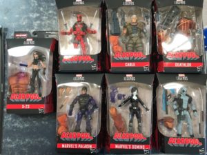 Marvel Legends 2018 Deadpool Wave 1 Figures Packaged