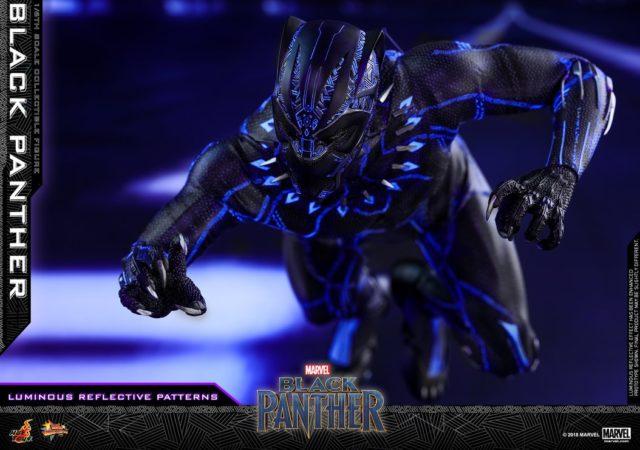 Reflective Patterns on Hot Toys Black Panther Movie Figure