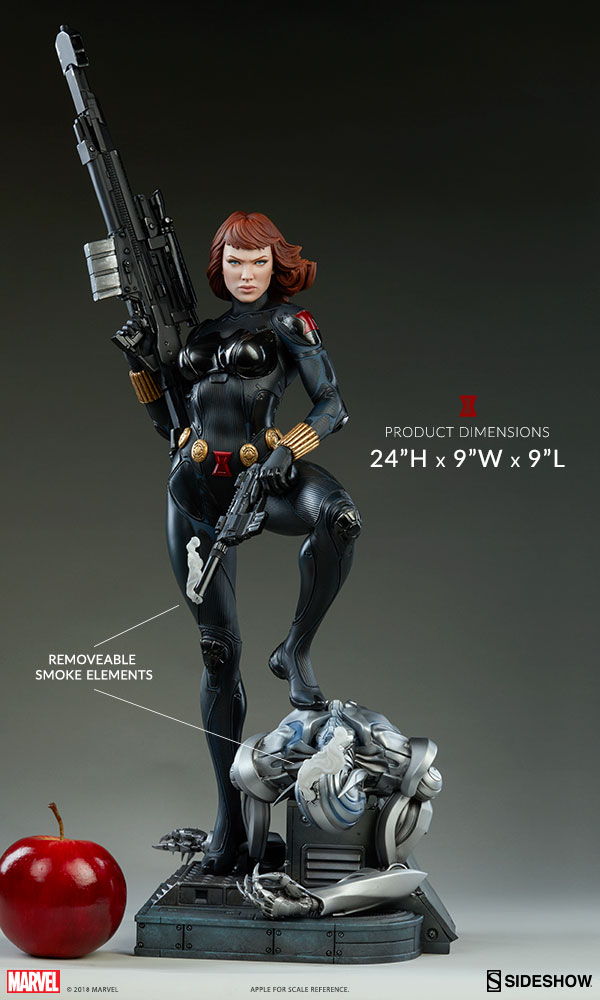 Scale Photo of Sideshow Black Widow Premium Format Statue