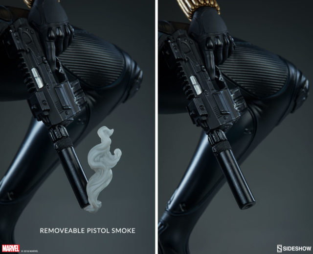 Sideshow Black Widow Premium Format Figure Pistol Smoke Effects Piece