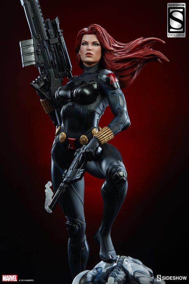 Sideshow Exclusive Black Widow Premium Format Head