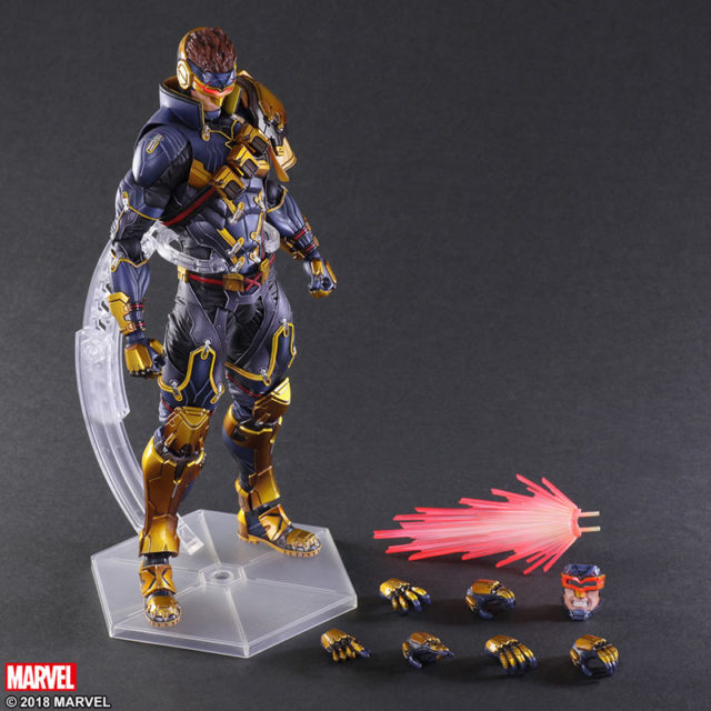 X-Men Play Arts Kai Marvel Variant Cyclops Figure and Accessories