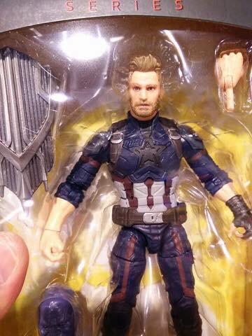 Marvel Legends Bearded Captain America Figure Close-Up