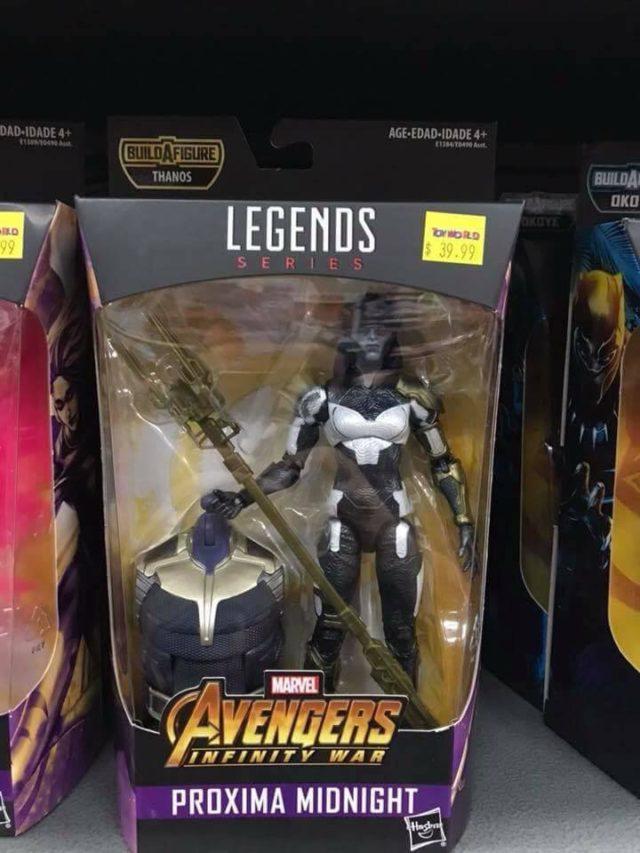 Marvel Legends Proxima Midnight Movie Figure Infinity War Packaged