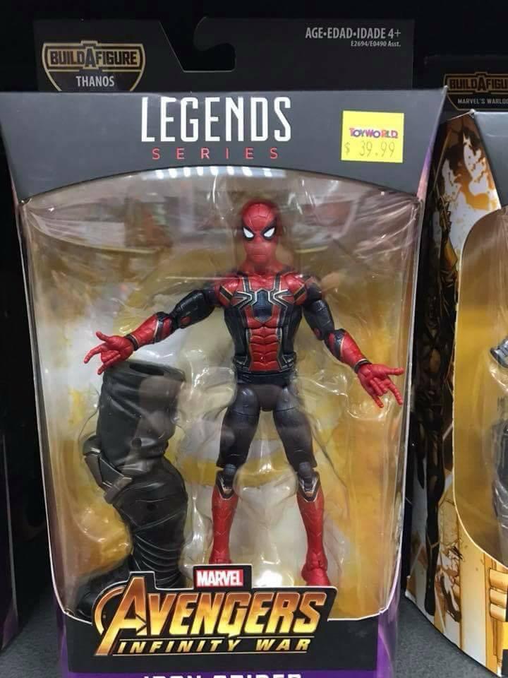 Marvel Legends 2018 Infinity War wave 1 BAF Thanos Iron Spider-man figure