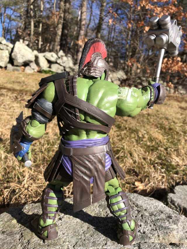 Back of Marvel Select Ragnarok Gladiator Hulk Figure