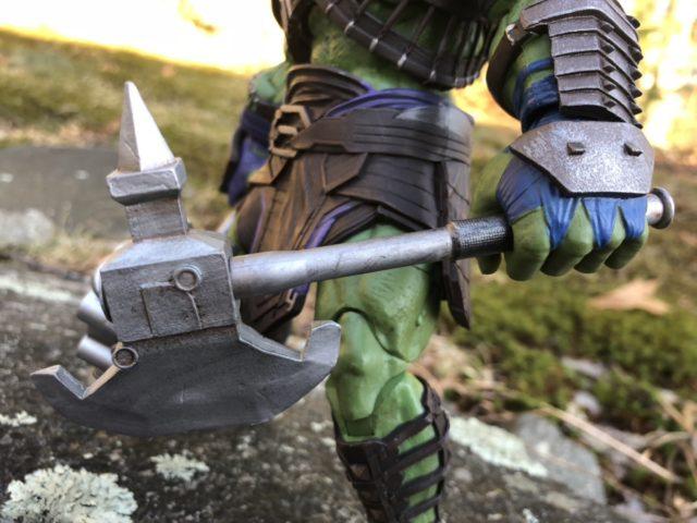 Close-Up of Diamond Select Gladiator Hulk Axe